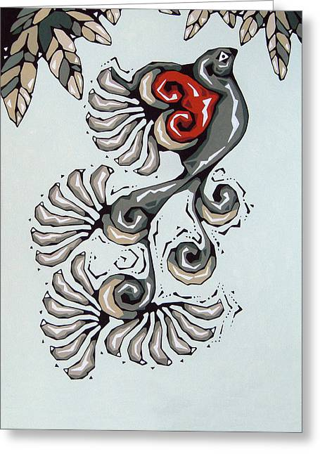 Love Bird Greeting Card by Susan Lishman