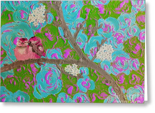 Tickled Pink Greeting Card by Jennifer Russell
