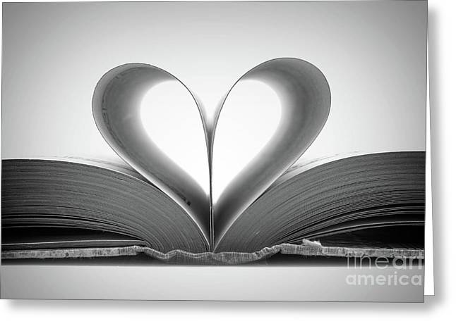 Love Book Greeting Card by Delphimages Photo Creations