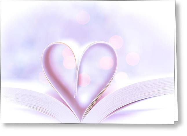 Canon 6d Digital Art Greeting Cards - Love Books Greeting Card by Keith Hawley