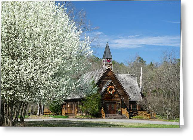 Love Chapel In Spring 3 Greeting Card by Douglas Barnett