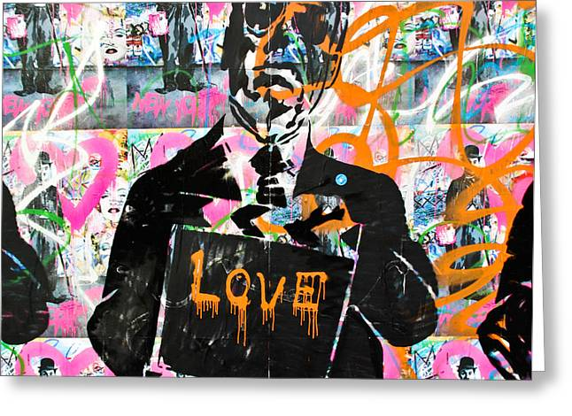 Love Chaplin Greeting Card by Darren Scicluna