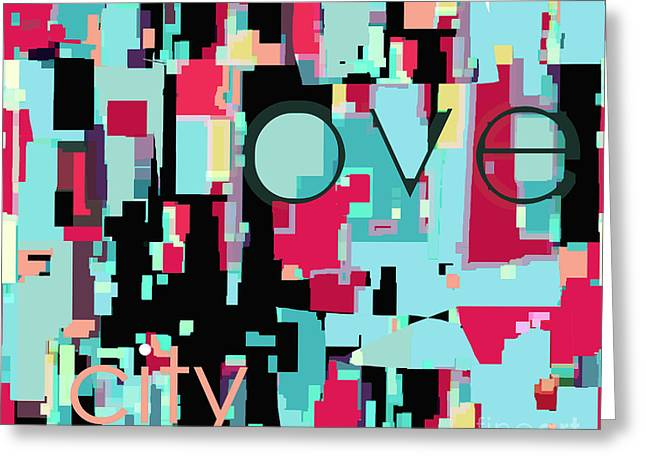 Artography Greeting Cards - Love City Greeting Card by Jayne Logan Intveld
