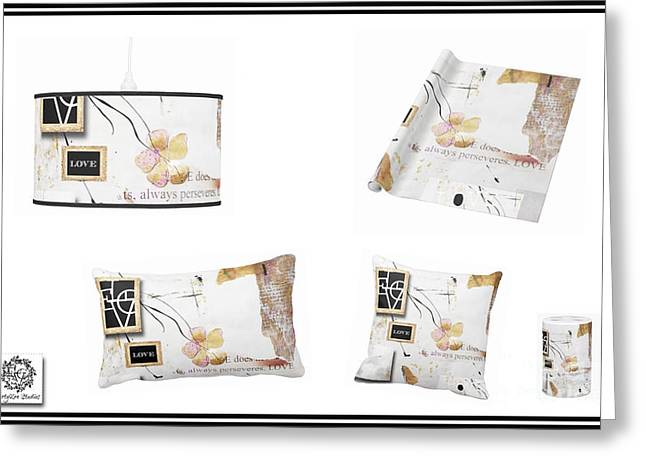 Houzz Greeting Cards - Love Collage Home Accessories Greeting Card by Anahi DeCanio - ArtyZen Studios