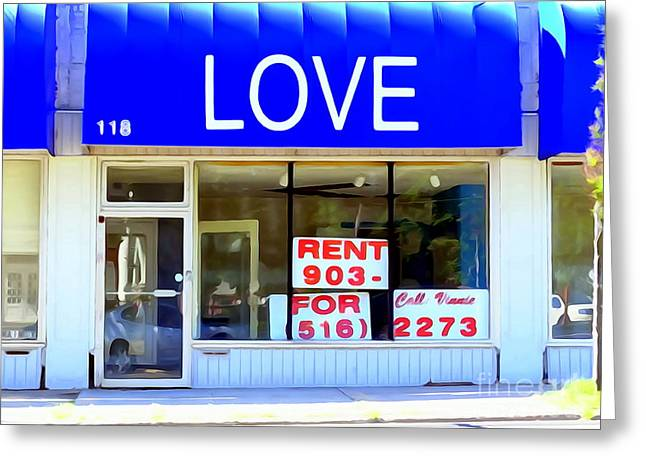Abstract Digital Photographs Greeting Cards - Love For Rent Greeting Card by Ed Weidman