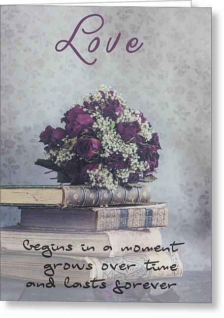 Book Photographs Greeting Cards - Love forever Greeting Card by Joana Kruse