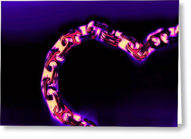 Scans Greeting Cards - Love Glows Strong Greeting Card by Dolly Mohr