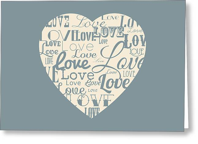 Matt Greeting Cards - Love heart Greeting Card by Matt