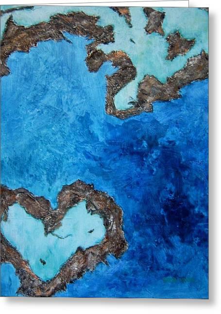 Love Heart Reef Greeting Card by Georgia  Mansur