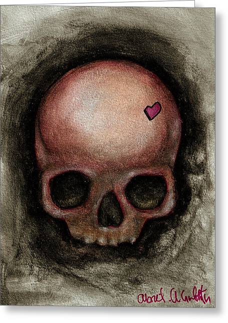 Gothic Greeting Cards - Love in my head Greeting Card by  Abril Andrade Griffith