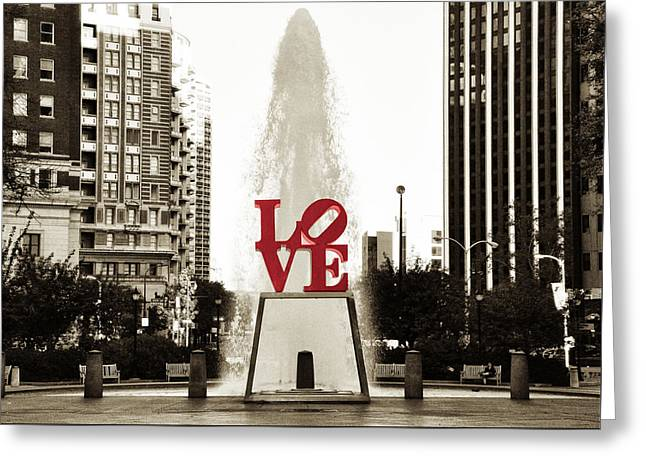 Center Greeting Cards - Love in Philadelphia Greeting Card by Bill Cannon