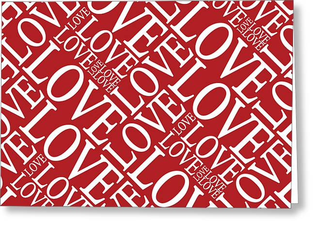Chic Digital Greeting Cards - Love in Red Greeting Card by Michael Tompsett