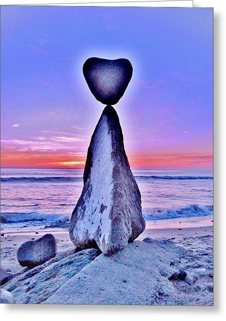 Mystic Art Greeting Cards - Love In The Balance  Greeting Card by Rick Keene