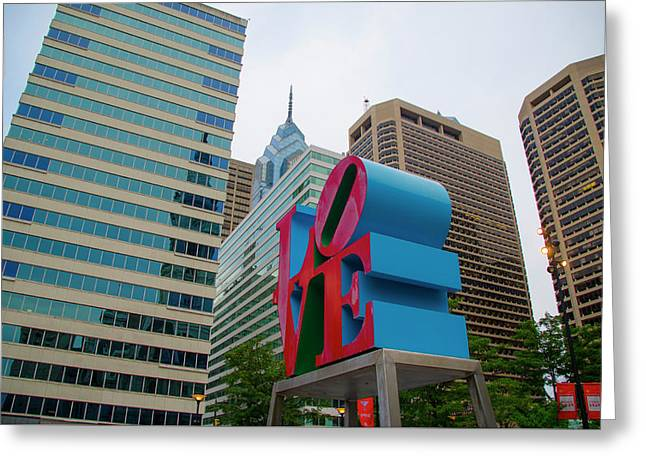 Love In The City - Philadelphia Greeting Card by Bill Cannon