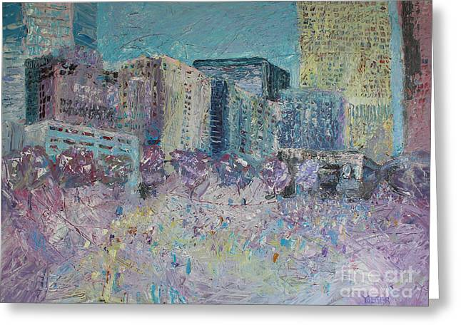Charlotte Fine Art Greeting Cards - Love in the City Greeting Card by Robert Yaeger