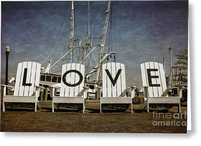 Wooden Sculpture Greeting Cards - Love In the Park Greeting Card by Tom Gari Gallery-Three-Photography