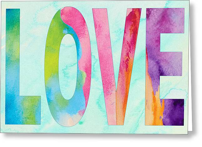 Love In Watercolor Greeting Card by Marilu Windvand