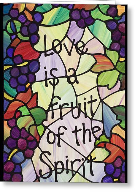 Grape Vineyard Greeting Cards - Love is a Fruit  Greeting Card by Lani Whitley