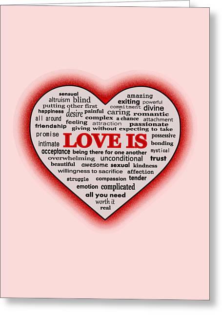 Love Is Greeting Card by Anastasiya Malakhova