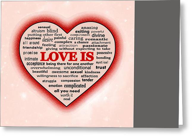 Sacrifice Mixed Media Greeting Cards - Love Is Greeting Card by Anastasiya Malakhova