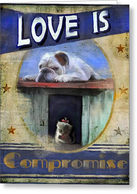 Payne Greeting Cards - Love is Compromise Greeting Card by Joel Payne