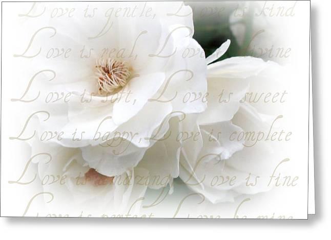 Love Poem Greeting Cards - Love Is Greeting Card by Kathy Bucari