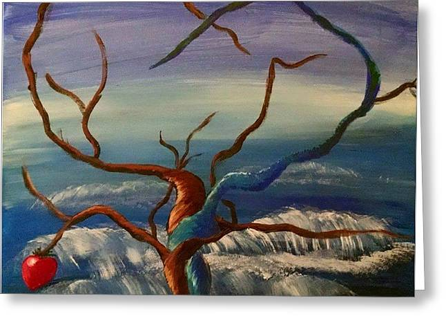 Tree Roots Paintings Greeting Cards - Love is twisted Greeting Card by Megan McLoughlin