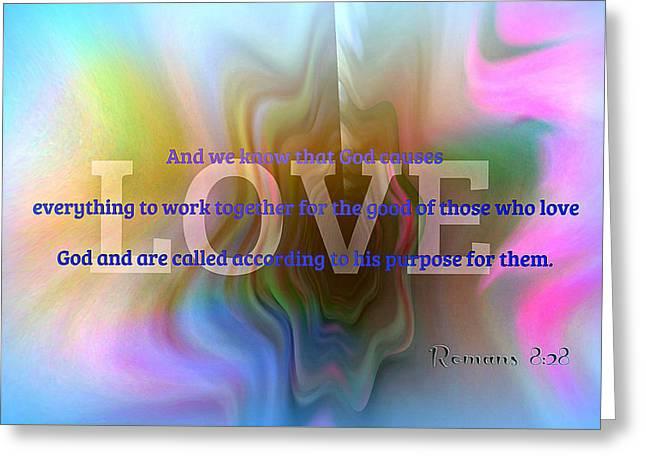 Love Greeting Card by Kathy Bucari