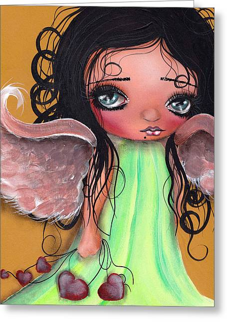 Surreal Angel Art Greeting Cards - Love Keeper Greeting Card by  Abril Andrade Griffith