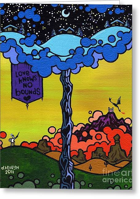 Sword Cartoon Greeting Cards - Love Knows No Bounds Greeting Card by Dan Keough