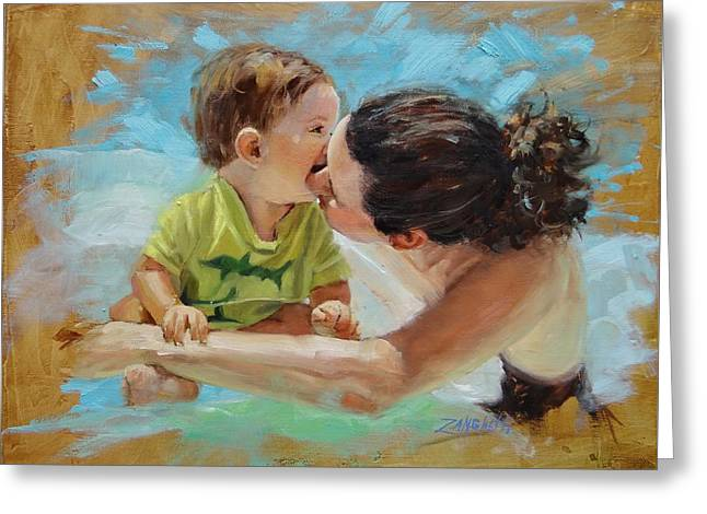 Grandson Greeting Cards - Love Greeting Card by Laura Lee Zanghetti