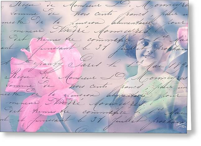 Digital Jewelry Greeting Cards - Love Letter Greeting Card by Gordana Stanisic