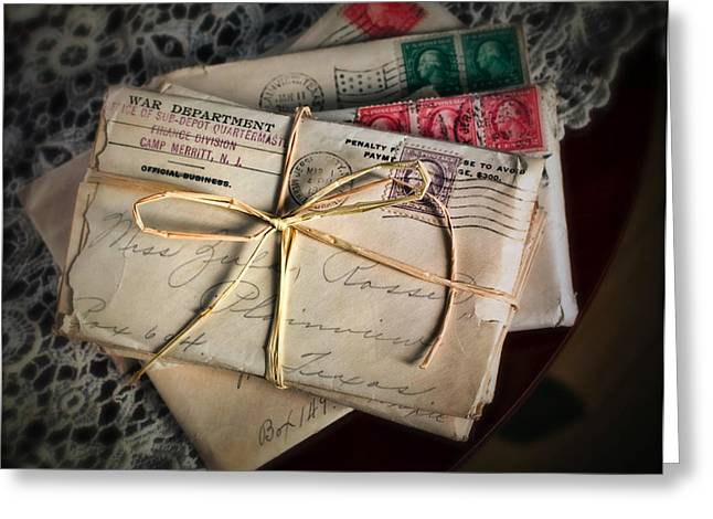 Love Letter Greeting Cards - Love Letters Greeting Card by June Marie Sobrito