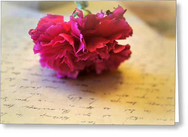 Love Letter Photographs Greeting Cards - Love Letters Straight From The Heart Greeting Card by Kathy Bucari
