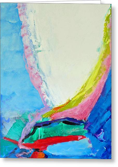 White Paintings Greeting Cards - Love Links Greeting Card by Valerie Erichsen Thomson