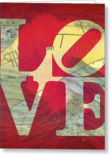Love Long Island V5 Greeting Card by Brandi Fitzgerald