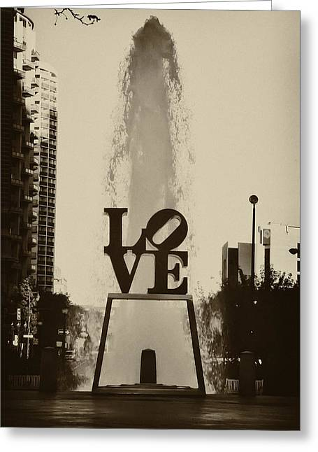 Love Love Love Greeting Card by Bill Cannon