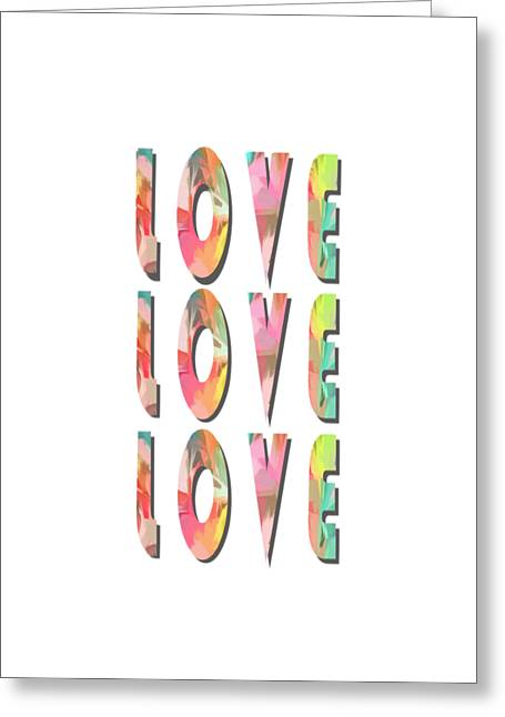 Love Love Love Phone Case Greeting Card by Edward Fielding