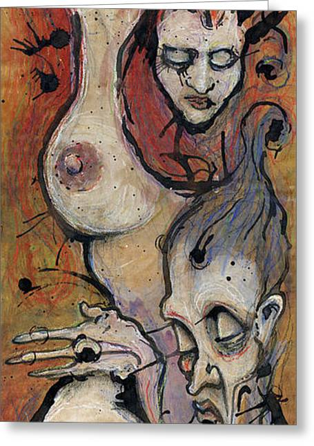 Pen Mixed Media Greeting Cards - Love Greeting Card by Mark M  Mellon