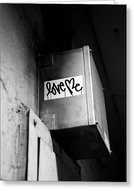 Love Me Greeting Card by Dean Harte