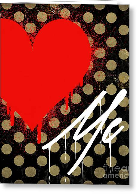 Paint Cans Greeting Cards - Love Me II Greeting Card by Mindy Sommers