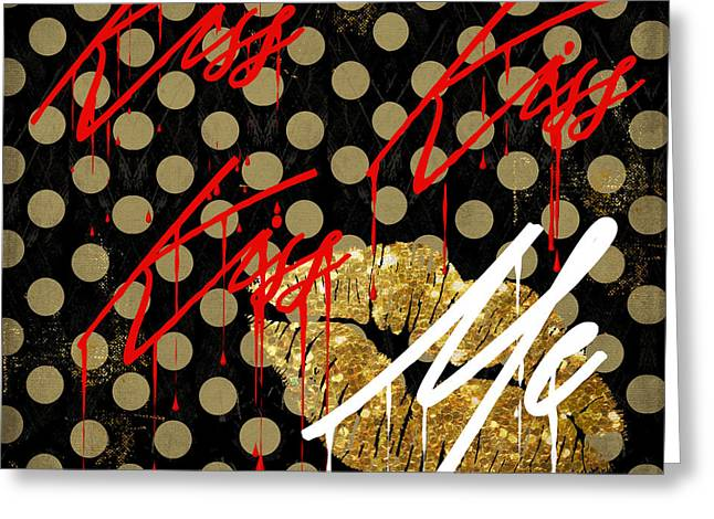 Graffiti Art Greeting Cards - Love Me III Greeting Card by Mindy Sommers