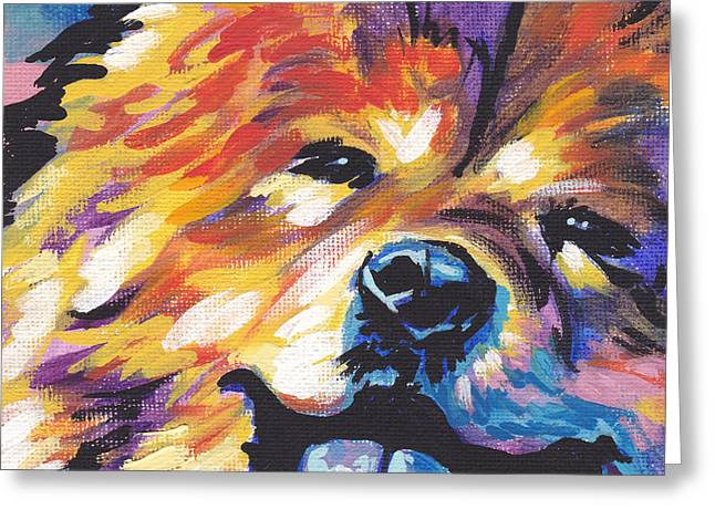 Chow Greeting Cards - Love My Chow Greeting Card by Lea