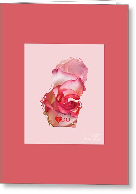 Yes Love You,  Rose 0509 Greeting Card by Johannes Murat