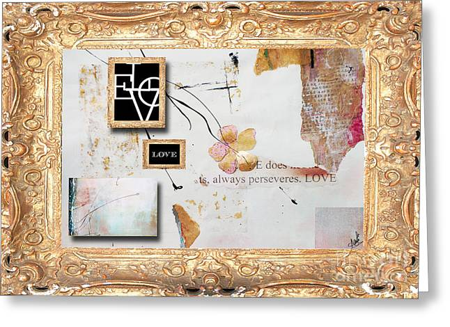 Houzz Greeting Cards - Love Nature Collage Gold Greeting Card by Anahi DeCanio - ArtyZen Studios