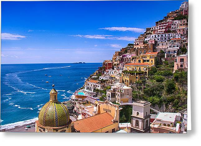 Greeting Cards - Love Of Positano Italy Greeting Card by Daphne Sampson