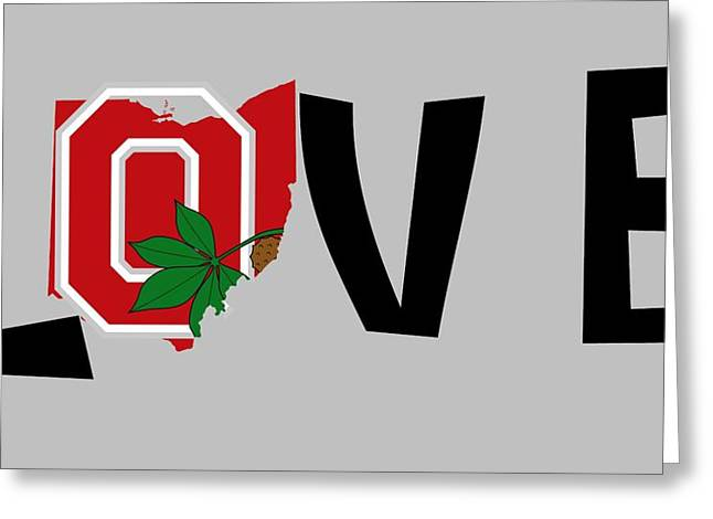 Love Ohio Greeting Card by Dan Sproul