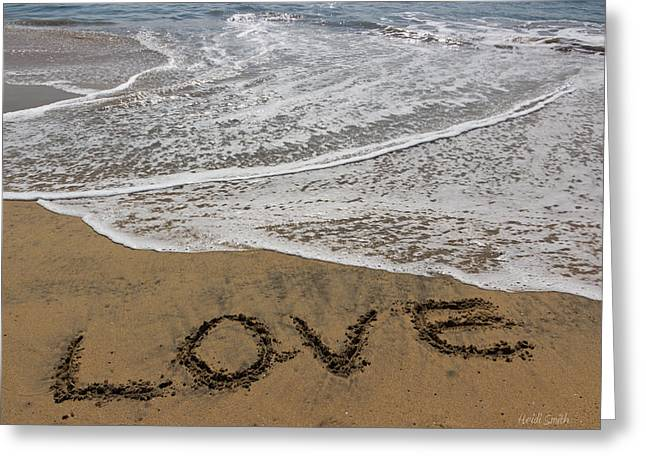 Heidi Smith Greeting Cards - Love On The Beach Greeting Card by Heidi Smith