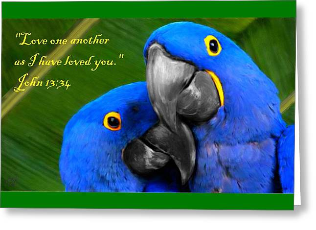 Bible Paintings Greeting Cards - Love One Another Greeting Card by Bruce Nutting