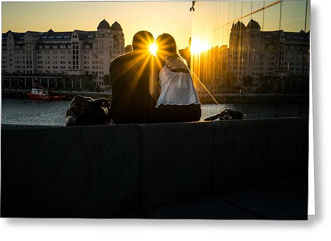 Love - Oslo, Norway - Color Street Photography Greeting Card by Giuseppe Milo